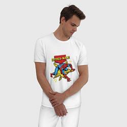 Пижама хлопковая мужская Spider-man цвета белый — фото 2