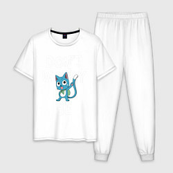 Пижама хлопковая мужская Dont Worry be Fairy Tail цвета белый — фото 1