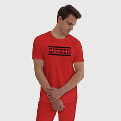 Пижама хлопковая мужская Muse: Citizen Erased цвета красный — фото 2