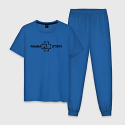 Пижама хлопковая мужская Rammstein цвета синий — фото 1