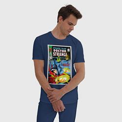 Пижама хлопковая мужская Doctor Strange цвета тёмно-синий — фото 2