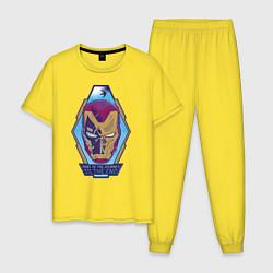 Пижама хлопковая мужская Iron Man Endgame цвета желтый — фото 1