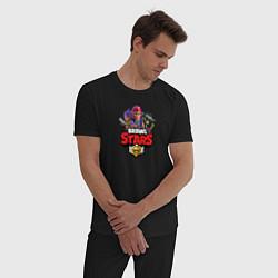 Пижама хлопковая мужская BRAWL STARS цвета черный — фото 2