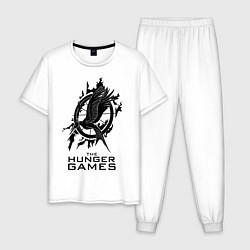 Пижама хлопковая мужская The Hunger Games цвета белый — фото 1