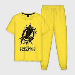 Пижама хлопковая мужская The Hunger Games цвета желтый — фото 1