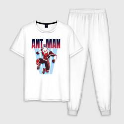 Пижама хлопковая мужская Ant-man цвета белый — фото 1