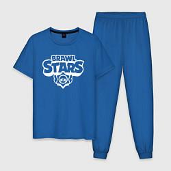 Пижама хлопковая мужская BRAWL STARS цвета синий — фото 1