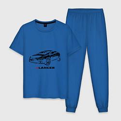 Пижама хлопковая мужская Mitsubishi lancer цвета синий — фото 1