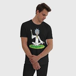 Пижама хлопковая мужская Rick Sanchez цвета черный — фото 2