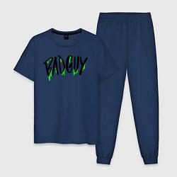 Пижама хлопковая мужская Bad Guy цвета тёмно-синий — фото 1