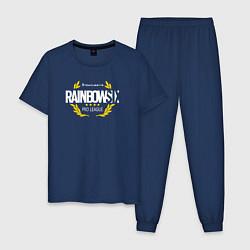 Пижама хлопковая мужская R6S PRO LEAGUE НА СПИНЕ цвета тёмно-синий — фото 1