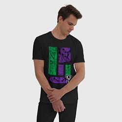 Пижама хлопковая мужская Joker Emotions цвета черный — фото 2