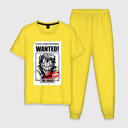 Пижама хлопковая мужская Wanted Joker цвета желтый — фото 1