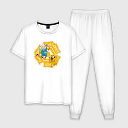 Пижама хлопковая мужская Awesome Adventure Time цвета белый — фото 1