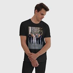 Пижама хлопковая мужская Friends цвета черный — фото 2