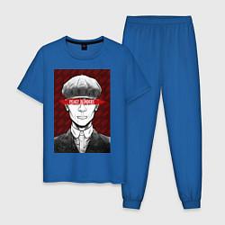 Пижама хлопковая мужская Tomas Shelby цвета синий — фото 1