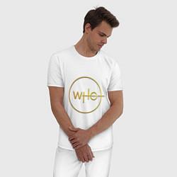 Пижама хлопковая мужская DOCTOR WHO цвета белый — фото 2