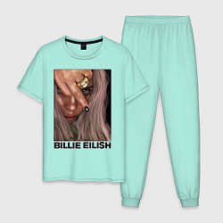Пижама хлопковая мужская BILLIE EILISH цвета мятный — фото 1