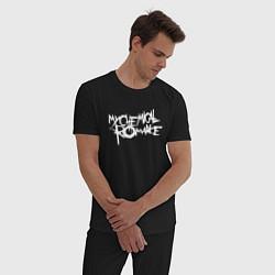 Пижама хлопковая мужская My Chemical Romance spider на спине цвета черный — фото 2
