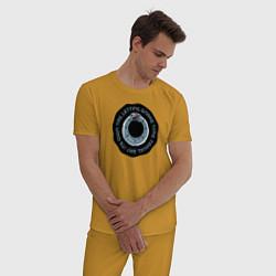 Пижама хлопковая мужская SNAKE TIME цвета горчичный — фото 2