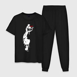 Пижама хлопковая мужская Monokuma paint цвета черный — фото 1