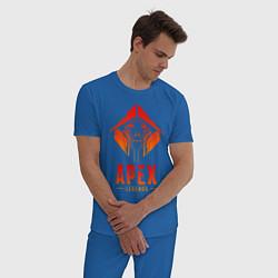 Пижама хлопковая мужская APEX LEGENDS CRYPTO цвета синий — фото 2