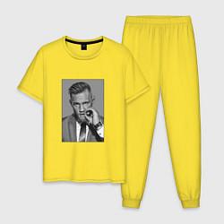 Пижама хлопковая мужская Conor McGregor цвета желтый — фото 1