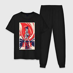 Пижама хлопковая мужская Apex Legends Wraith цвета черный — фото 1