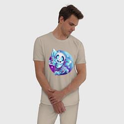 Пижама хлопковая мужская UNDERTALE цвета миндальный — фото 2