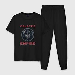 Пижама хлопковая мужская Galactic Empire цвета черный — фото 1