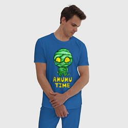 Пижама хлопковая мужская Амуму цвета синий — фото 2