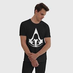 Пижама хлопковая мужская ASSASSINS CREED цвета черный — фото 2