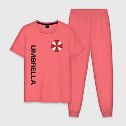 Пижама хлопковая мужская UMBRELLA CORP цвета коралловый — фото 1