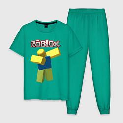 Пижама хлопковая мужская Roblox Dab цвета зеленый — фото 1