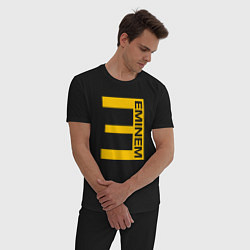 Пижама хлопковая мужская EMINEM цвета черный — фото 2