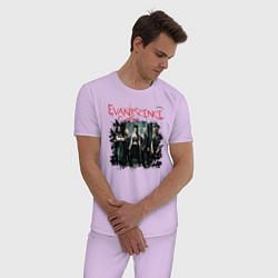 Пижама хлопковая мужская Evanescence цвета лаванда — фото 2