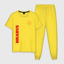 Пижама хлопковая мужская Brabus цвета желтый — фото 1