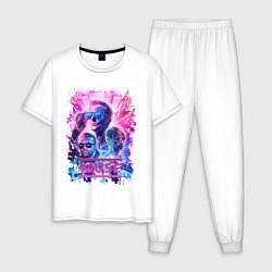 Пижама хлопковая мужская Muse цвета белый — фото 1