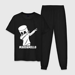 Пижама хлопковая мужская MARSHMELLO цвета черный — фото 1