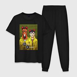 Пижама хлопковая мужская BoJack Horseman цвета черный — фото 1