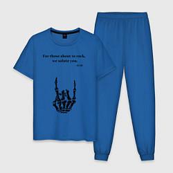 Пижама хлопковая мужская ACDC цвета синий — фото 1
