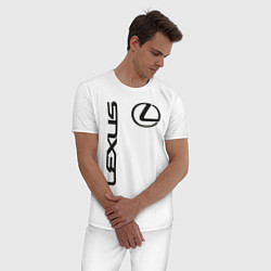 Пижама хлопковая мужская LEXUS цвета белый — фото 2