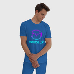 Пижама хлопковая мужская MAZDA цвета синий — фото 2