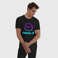Пижама хлопковая мужская MAZDA цвета черный — фото 2