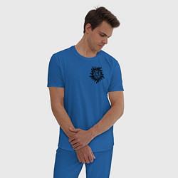 Пижама хлопковая мужская Supernatural Pentagram цвета синий — фото 2