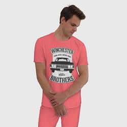 Пижама хлопковая мужская Impala Winchesters цвета коралловый — фото 2