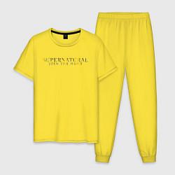 Пижама хлопковая мужская The Road So Far цвета желтый — фото 1