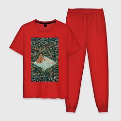 Пижама хлопковая мужская BoJack Horseman цвета красный — фото 1