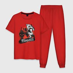 Пижама хлопковая мужская The Punisher цвета красный — фото 1