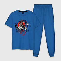 Пижама хлопковая мужская The Punisher цвета синий — фото 1